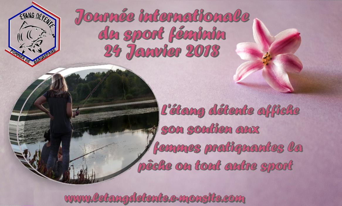 Journee internationale du sport feminin l etang detente pratique de la peche chez les femmes 38