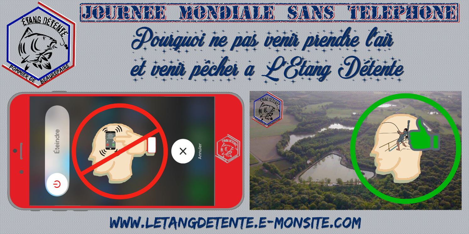 Journee mondiale sans telephone portable etang detente 38 peche carpe2
