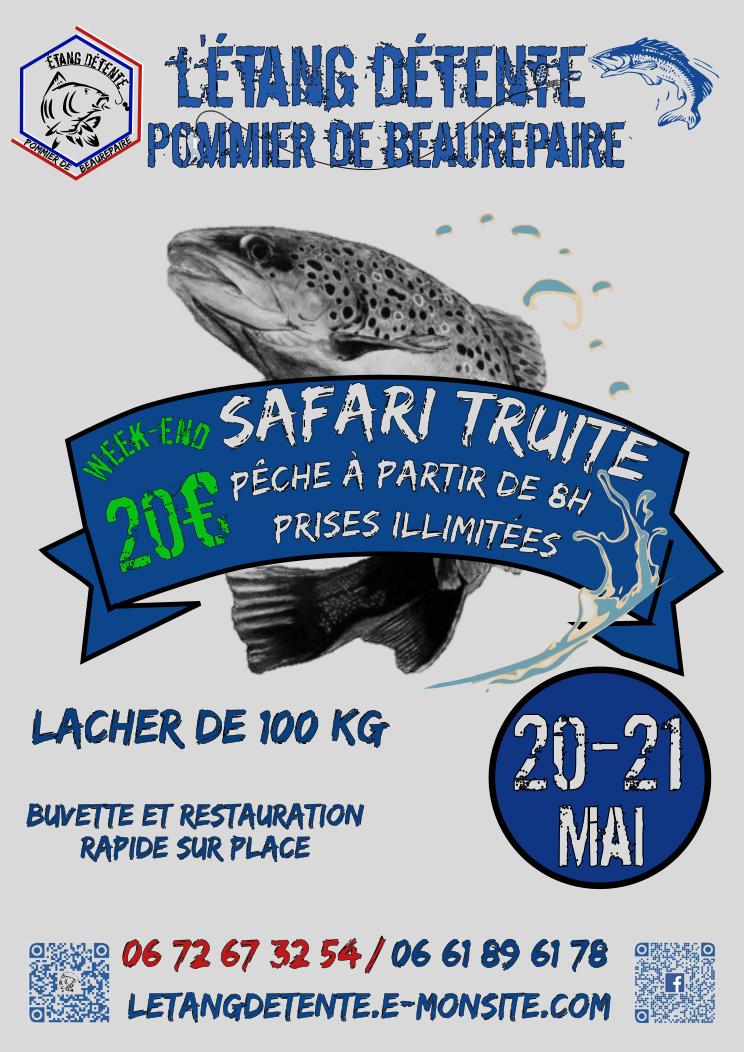 Safari truite etang detente pommier de beaurepaire 20 21 mai 2017 concours de peche isere